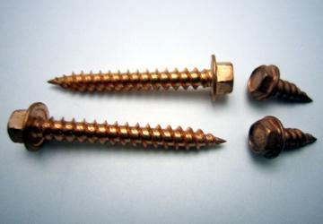 18-8 Copper Plated Stainless Steel Screws